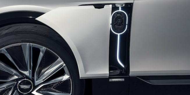 Cadillac LYRIQ EV Exterior Gallery - Charging Port Close Up